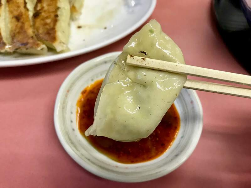 横浜飯店の餃子の皮