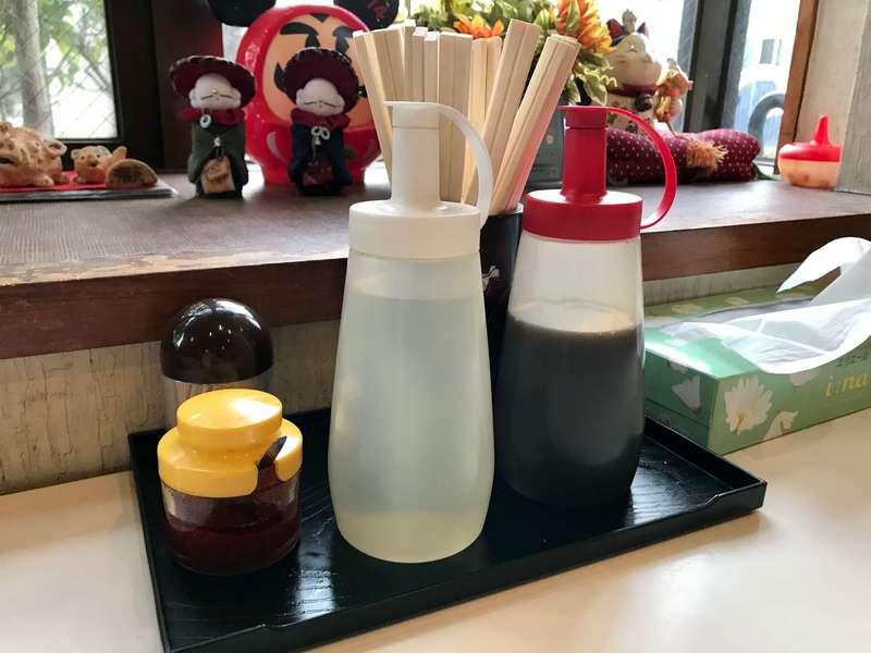福名餃子店のタレ