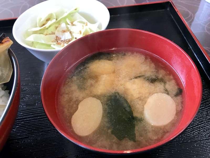 かさご餃子の味噌汁