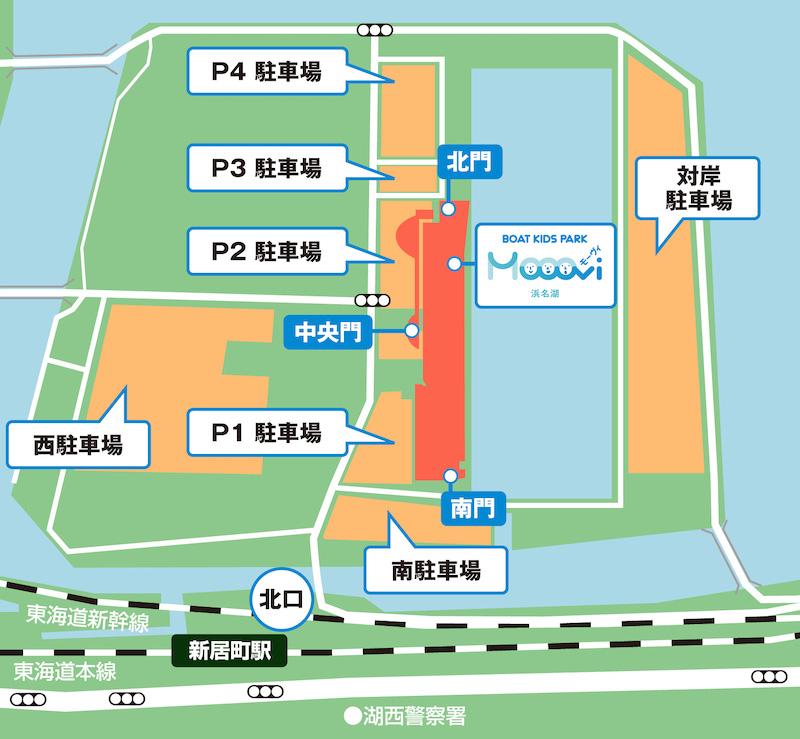 モーヴィ浜名湖駐車場案内図
