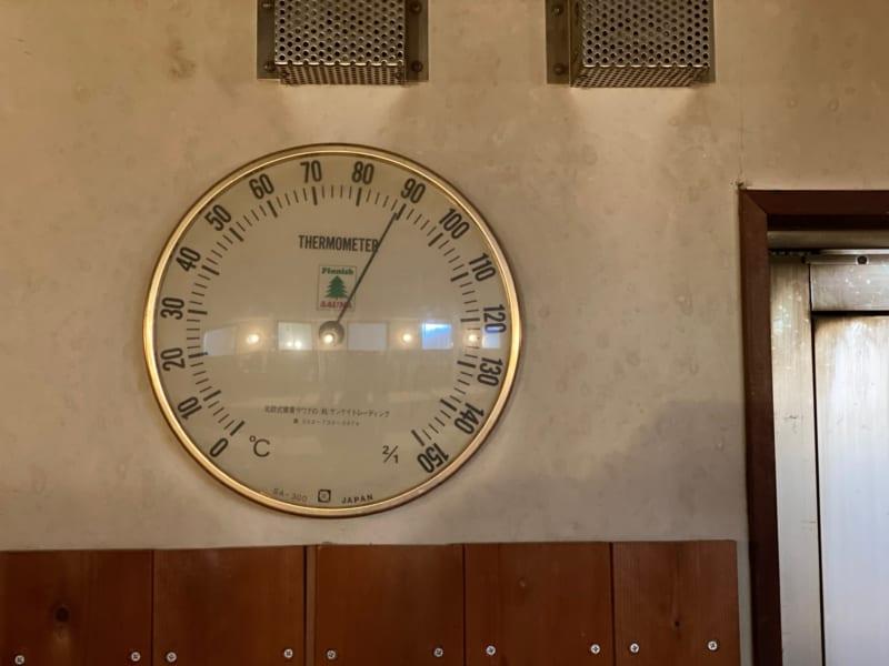 和合の湯のサウナの温度