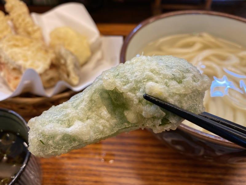 さぬきうどん野の香ピーマンの天ぷら
