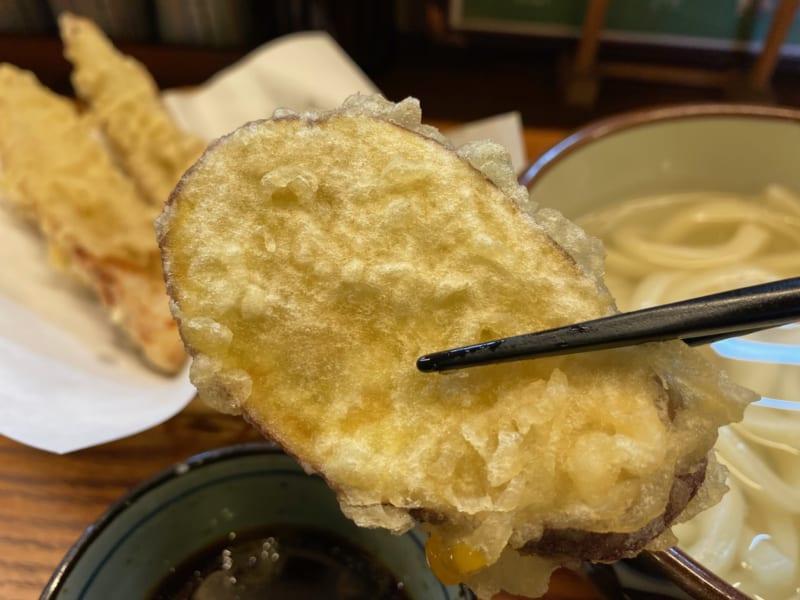 さぬきうどん野の香のサツマイモの天ぷら