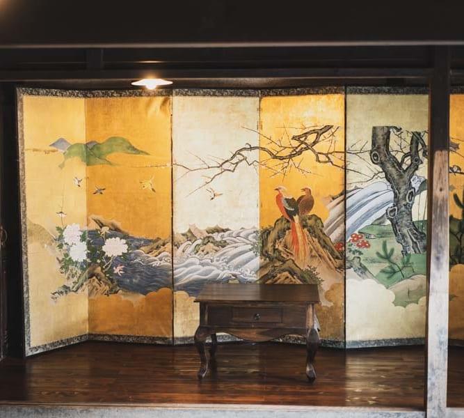 ATAGOYA阿多古屋の屏風