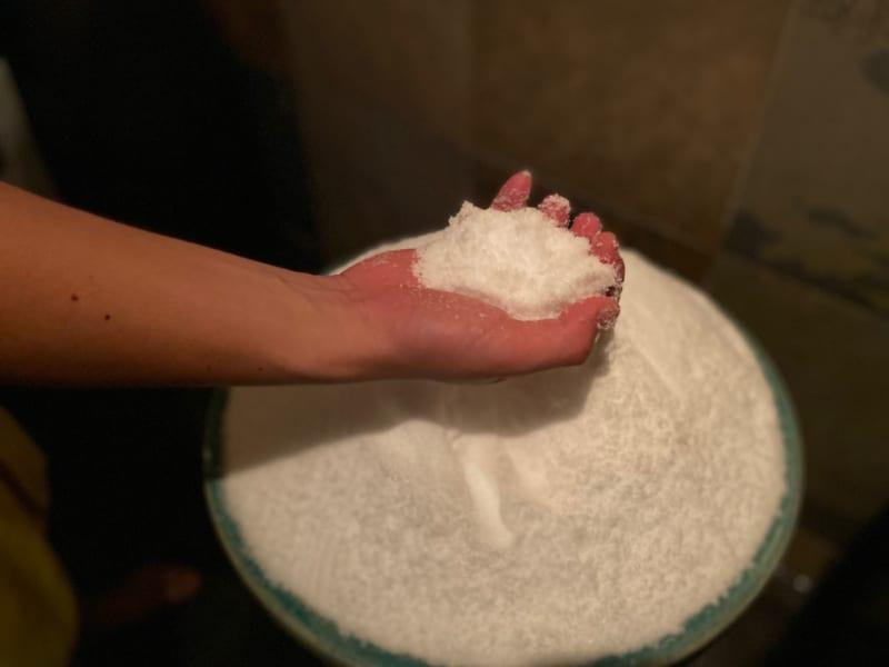 湯風景しおりの塩サウナ