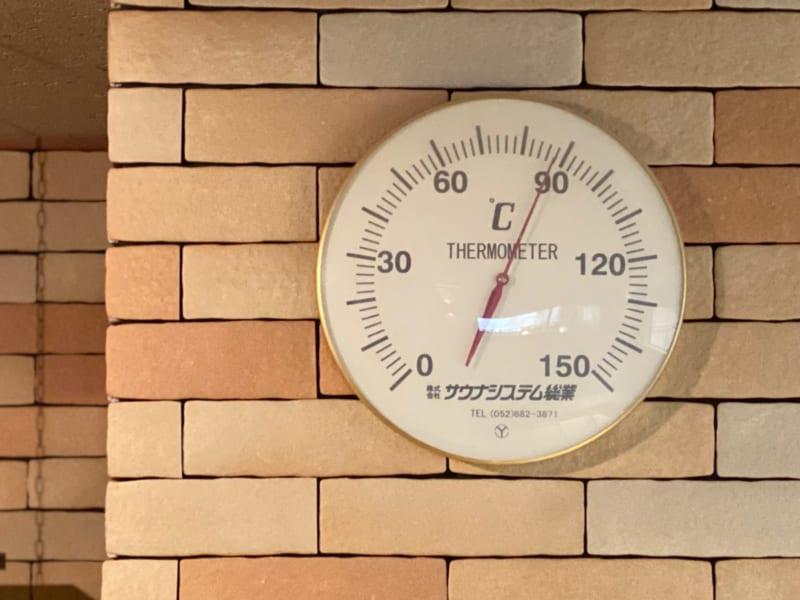 湯風景しおりのサウナの温度