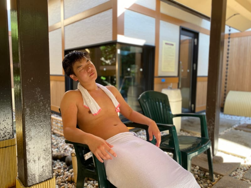 浜名湖かんざんじ温泉華咲の湯の外気浴