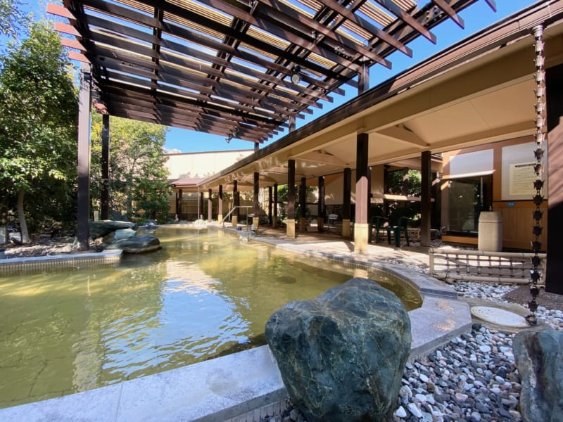 浜名湖かんざんじ温泉華咲の湯の外風呂