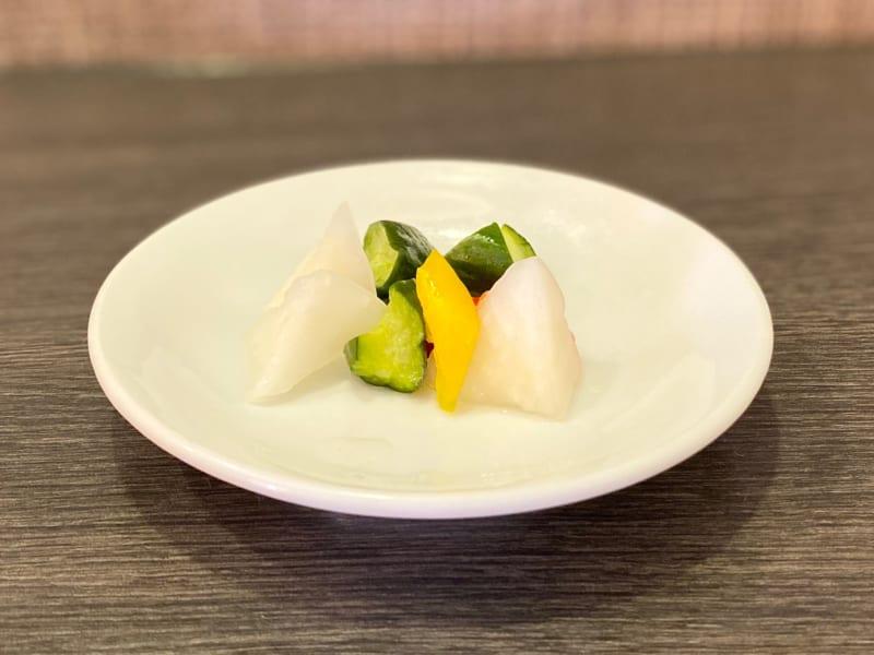 中国料理 伊部の野菜の甘酢漬け