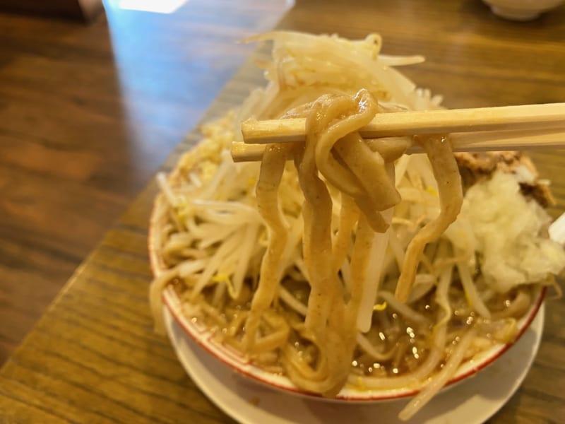 燕三条ラーメンガッツリ軒の麺
