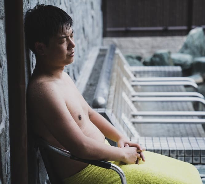 RAKUSPACafe浜松の外気浴