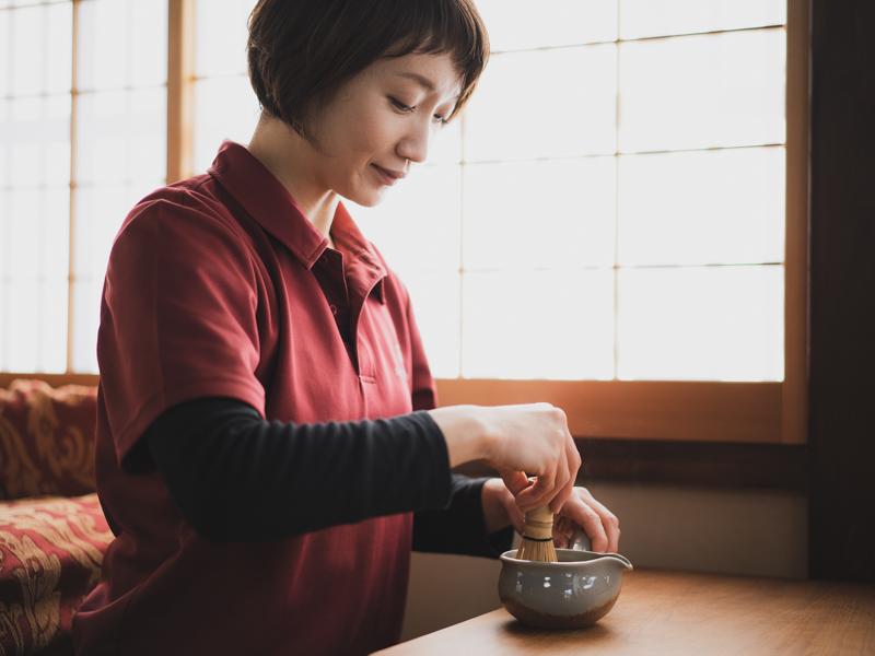 角打ち茶屋のお茶