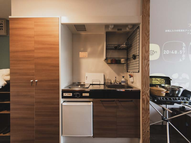 365BASE個室のキッチン