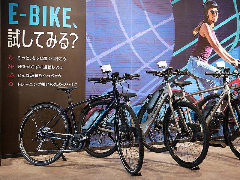 TREKBicycle浜松の内観e-Bike